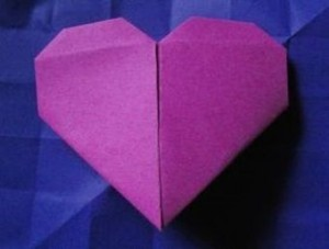 origami heart for blog