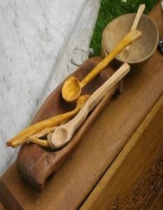 Carved wooden sppons