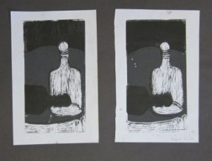 maire lino prints mounted